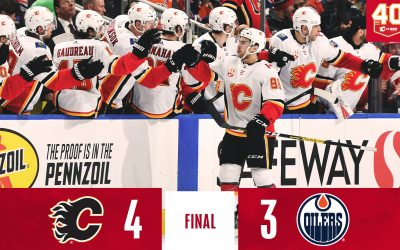 Flames Clinch Battle of Alberta Series With Another Win